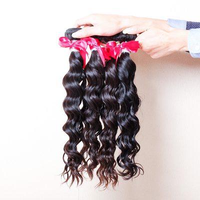 Beautiful Natural Wave Virgin Brazilian Human Hair Weft