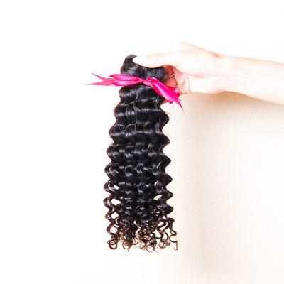 Brazilian Deep Wave Hair Sew In Human Hair Extensions