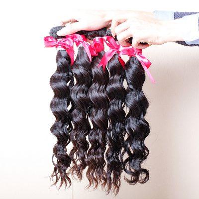 Brazilian Human Hair Bundles Wet And Wavy Virgin Hair