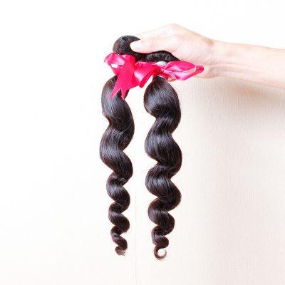 Brazilian Loose Wave Hair Virgin Remy Hair Weave Black Hair