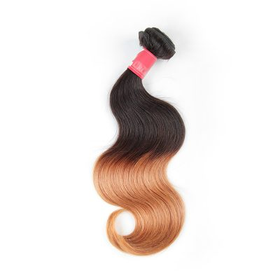 Brazilian Ombre Blonde Hair Weave Colored Hair Body Wave