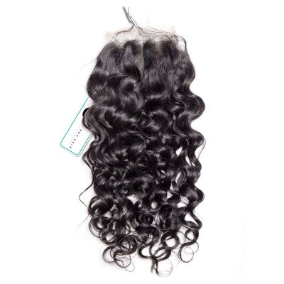 Water Wave Lace Closure Human Hair Lace Closure Swiss Lace 4X4