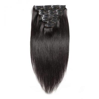 100% Brazilian Hair Clip-In Hair Extension Straight Brazilian Hair