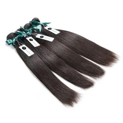 10A Grade Virgin Peruvian Hair Double Drawn Hair Extensions