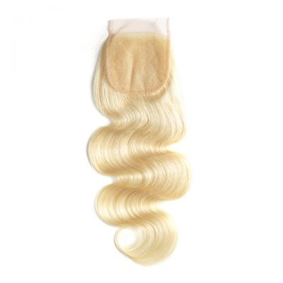 Blonde Body Wave Lace Closure #613 Color With Baby Hair European