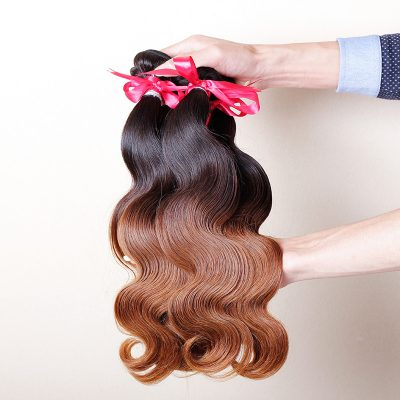 Body Wave Brazilian Ombre Hair Weaves Ombre Human Hair