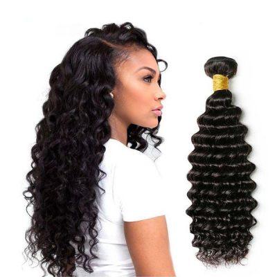 Brazilian Hair Deep Wave 100 Percent Brazilian Hair Weaving
