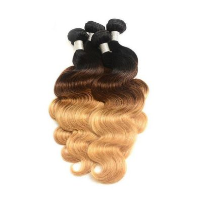 Brazilian Hair Extensions Two Tone Ombre #27 Body Wave Blonde