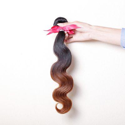 Brazilian Hair Weave 1B#30 Dark Brown Ombre Body Wave