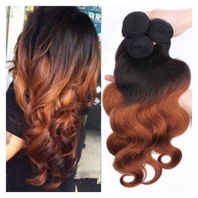 Brazilian Hair Weave Dark Brown Colour Ombre #30 Body Wave