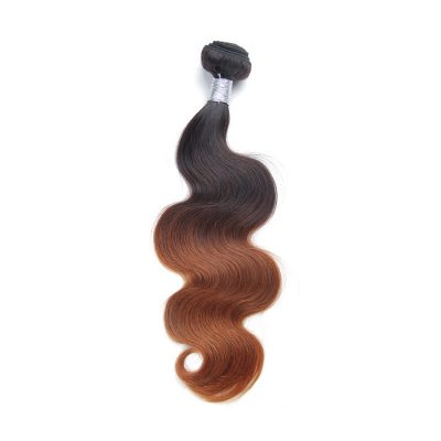 Brazilian Virgin Hair Ombre Hair Extension 1B#30 Brown Body Wave