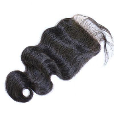 Brazilian Virgin Hair Top Closure Piece Body Wave Free Part
