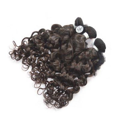 Brazilian Water Wave Human Hair Extension Indian Weave