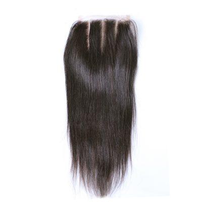 Cheap Virgin Brazilian Lace Closure Hair Piece Straight Closure