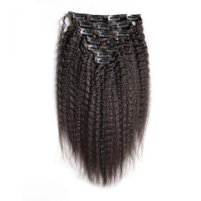 Clip In Hair Extension Kinky Straight Hair Virgin Brazilian Hair