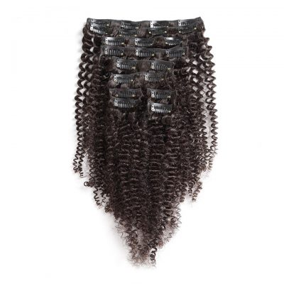Clip In Hair Extensions Brazilian Weave Curly Hair 7Piece100G