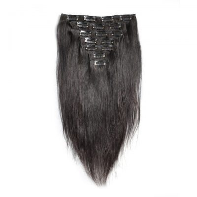 Clip In Human Hair Extensions Straight Hair For Black Women