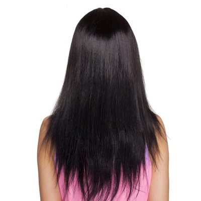 Human Hair Full Lace Wigs With Bangs Peruvian Straight Hair Wigs