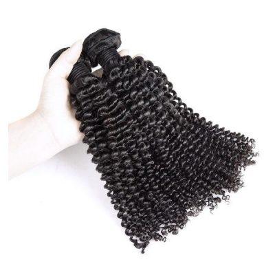 Kinky Curly Hair Weave Virgin Peruvian Human Hair Wefts