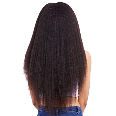 Kinky Straight Brazilian Full Lace Wigs Human Brazilian Hair