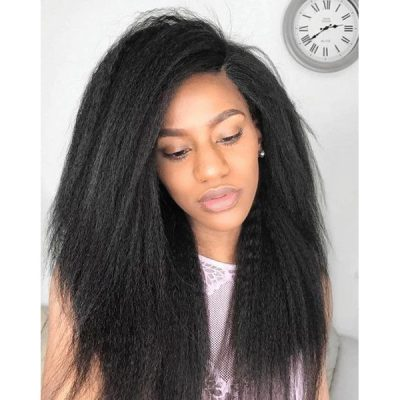 Kinky Straight Hair Malaysian Human Hair Sew In Weave