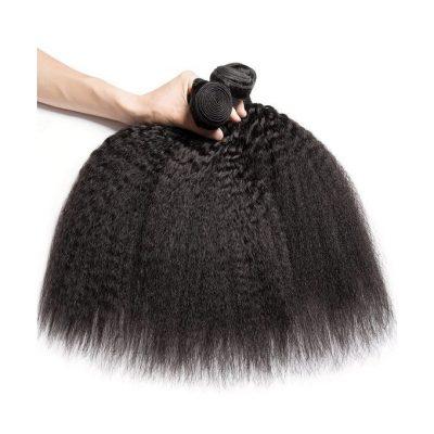 Kinky Straight Human Hair Extension Virgin Brazilian Straight Hair