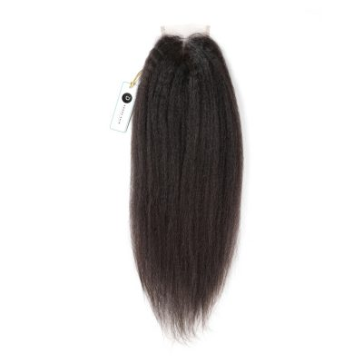 Kinky Straight Lace Closure 4X4Inch Human Hair Closure