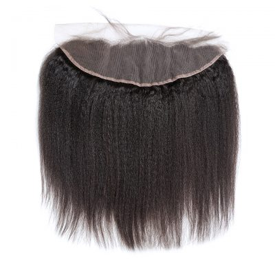 Kinky Straight Lace Frontal 13X4Inch Bleached Knots Frontal (5)