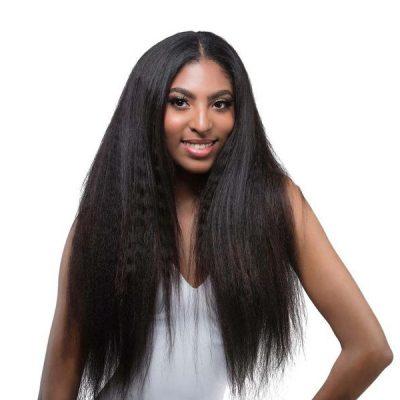 Malaysian Kinky Straight Full Lace Wigs Malaysian Virgin Hair