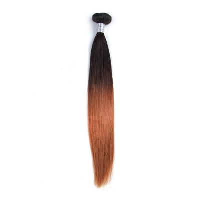 Ombre Hair Extension Straight Natural Color 1B#30 Ombre