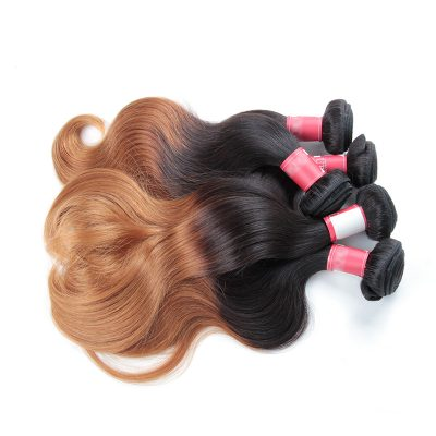 Ombre Hair Weaves Body Wave Blonde Peruvian Hair Products