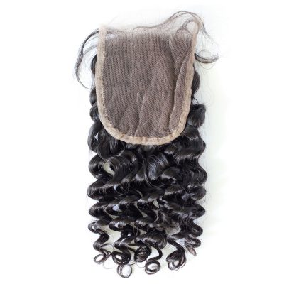 Peruvian Deep Wave Closure Pre-Plucked Hairline With Baby Hair