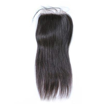 Peruvian Hair Closure Medium Brown Swiss Lace Natural Color 1B