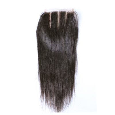 Peruvian Lace Closure Three Part Straight Hair With Baby Hair