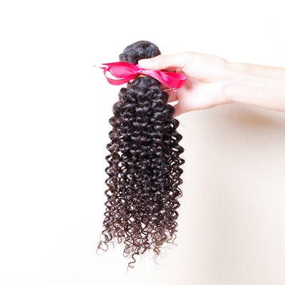 16Inch Malaysian Hair Curly Hair Weft Malaysian Extension