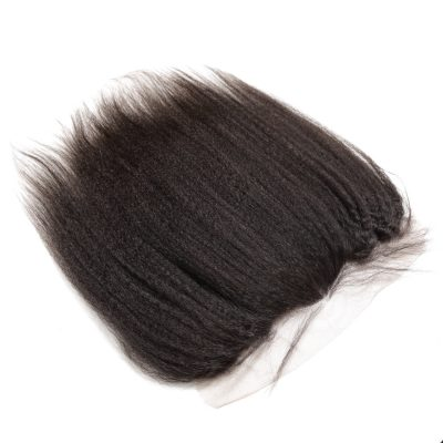 Bleached Knots Kinky Straight Lace Frontal 13X4 Human Hair