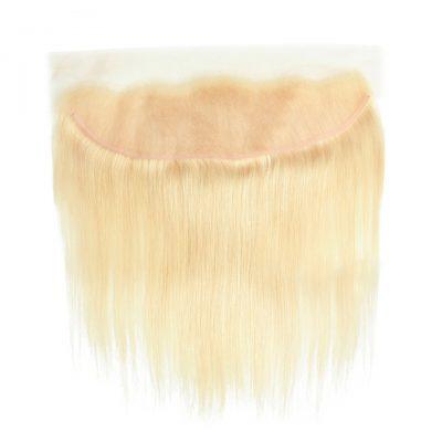 Blonde European Hair Straight Frontal 13X4 Frontal Virgin Hair