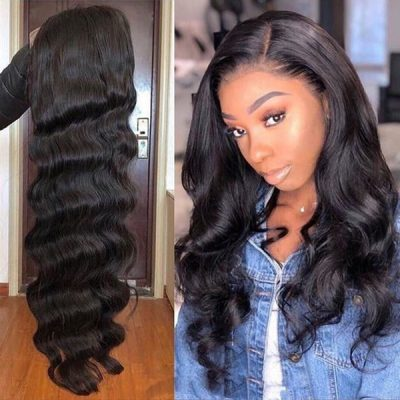 Body Wave Full Lace Wigs Natural Color Virgin Unprocessed Wigs