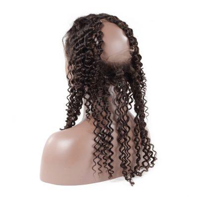 Brazilian Deep Wave Human Hair 360 Frontal Top Quality Hair