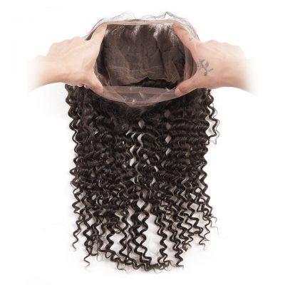 Brazilian Hair Wholesale 360 Deep Wave Frontal 100% Human Hair