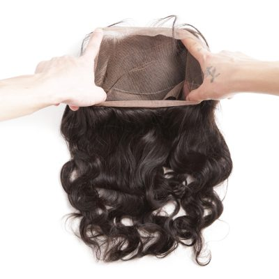 Brazilian Virgin Hair 360 Frontal Body Wave Brazilian Hair Frontal