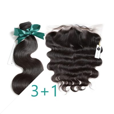 Brazilian Weave Hair Bundles With Frontal Body Wave Extensions