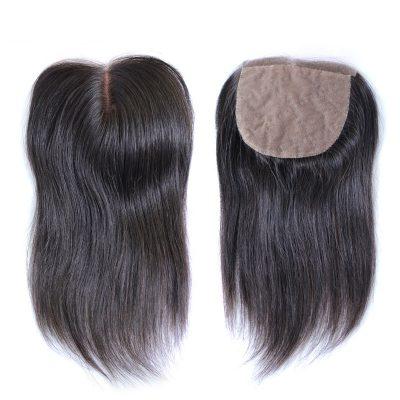 Cheap Silk Base Closure Straight Hair 4X4 Premium Human Hair