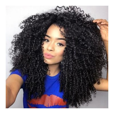 Kinky Curly Indian Hair Pure Indian Temple Hair Natural Color