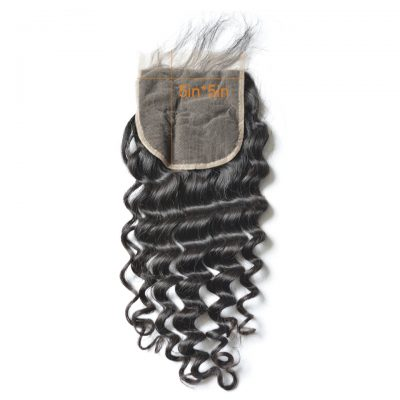 Pre Plucked Natural Hair Line 5X5 Natural Wave Lace Closure (5)