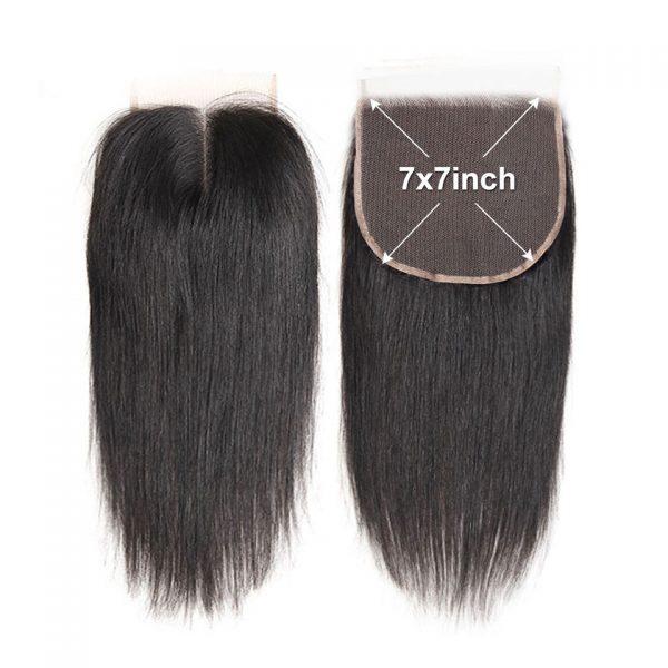 Straight Hair Lace Closure 7X7 Virgin Hair HD Lace Closure