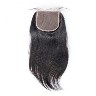 Unprocessed Peruvian Hair Lace Closure 5X5 Transparent Lace