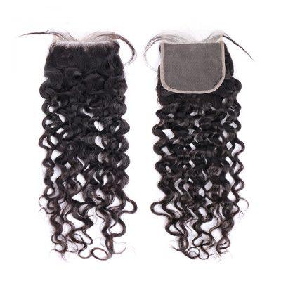 Virgin Hair Closure Water Wave 6X6Inch Brazilian Hair Closure