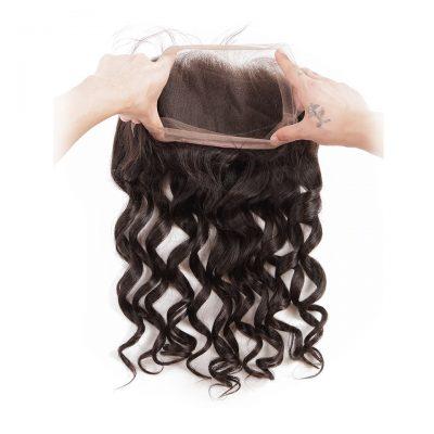 Virgin Human Hair Vendor Lace Frontal 360 Loose Wave Hair